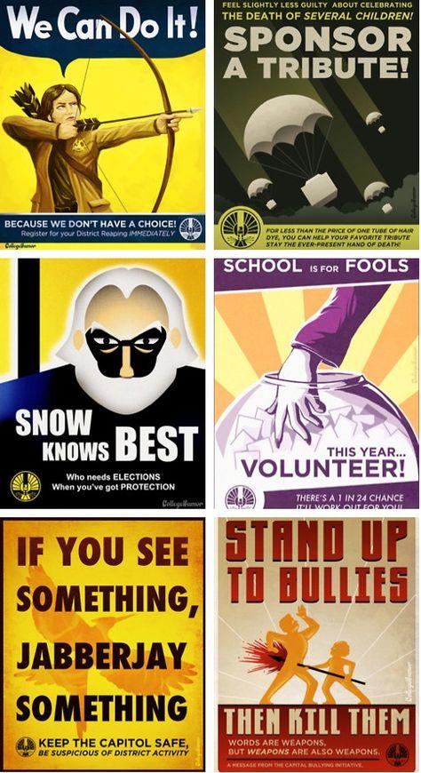#hungergames Propaganda Posters