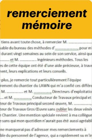 Remerciement Memoire Word Remerciement Memoire Remerciement Exemple De Remerciement