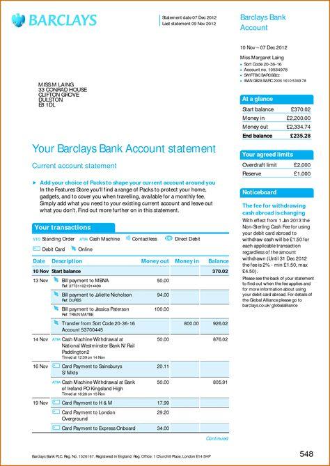 HSBC Bank Account Statement PSD Bank Statement PSD Pinterest - new 13 create a bank statement free