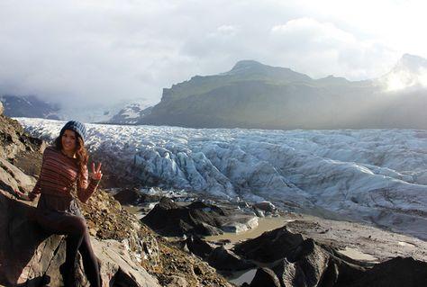 Svinafellsjokull Glacier in Iceland - road trip intinerary.