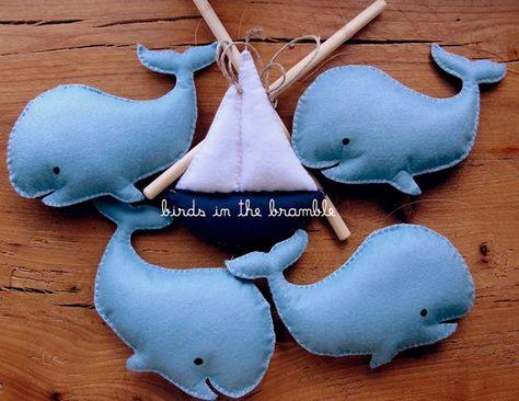 l histoire de la baleine made to order by birdsinthebramble, $58.00