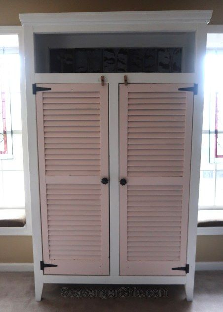 Double Shutter Diy Cupboard Diy Shutters Diy Wardrobe Diy Cupboards