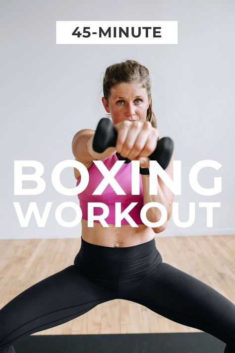 Mix up your home workouts with this BARRE BOXING fusion workout! This workout combines the best barre exercises with calorie-burning kickboxing, for an effective total body workout you can do at home! #funcardio #cardioworkout Cardio Barre, Barre Workout, Kickboxing Workout, Home Boxing Workout, 45 Minute Workout, Shred Workout, Interval Training Workouts, Workout Mix, Killer Workouts
