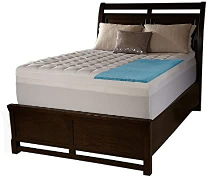 Dawn 5 Zone 1 5 Inch Memory Foam Mattress Topper Supportive Quality Sleep Hypoallergenic Channeled In 2020 Mattress Queen Size Bedding Memory Foam Mattress Topper