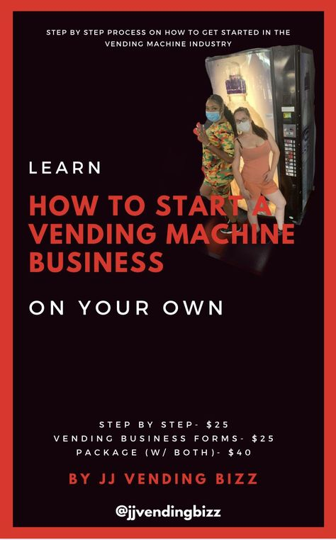 How to Start a Vending Machine Business - Package w/ both