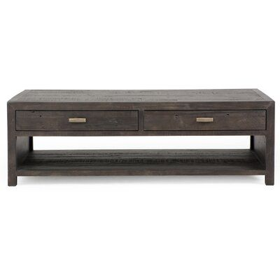 Four Hands Caminito Coffee Table With Strorage Slate Coffee