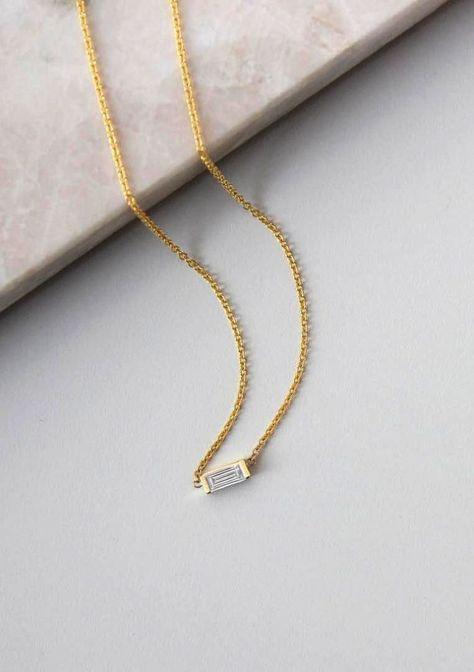 958adf8e99513 Minimalist Baguette Necklace - Christine Elizabeth Jewelry™