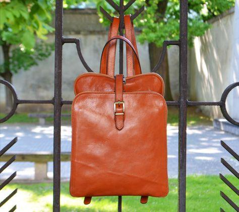 bd7e3eda5 Leather Backpack, Backpack, Leather Bag, Leather rucksack, Brown Leather  Backpack, Women Backpack, vintage backpack - Clarissa
