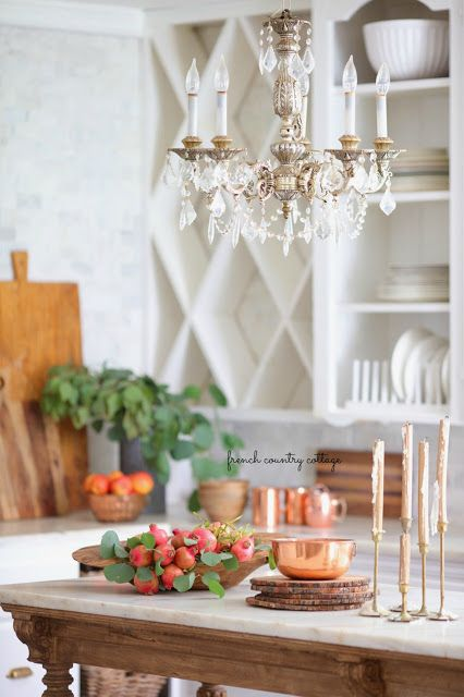 Early Autumn Decor In The Kitchen French Country Cottage Country House Decor French Country Decorating Country Style Kitchen