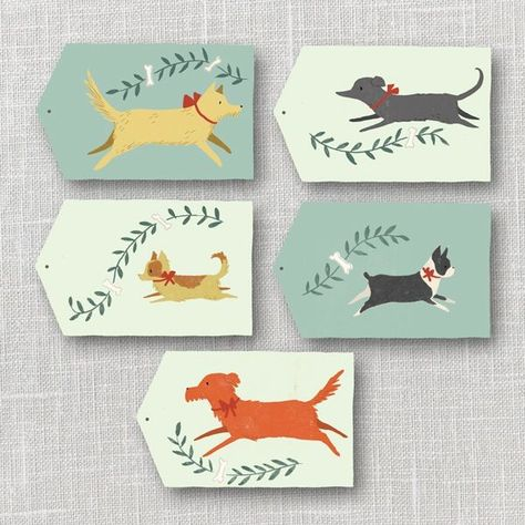 Dogs Gift Tags Printable Instant Download PDF   Julianna Swaney