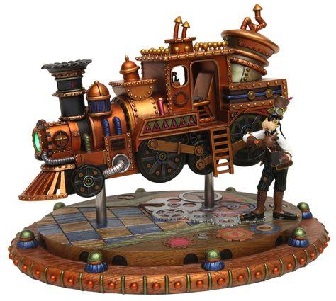 Steampunk Tendencies | Goofy's Steam-Powered Frontierland Train by Costa Alavezos