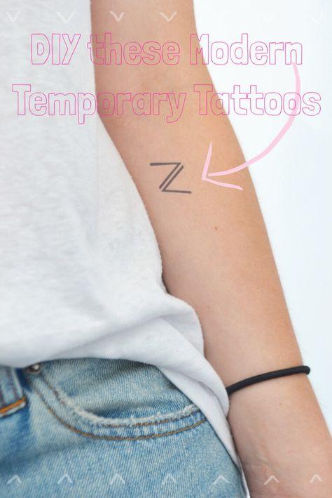 DIY Custom Temporary Tattoos | Do It Yourself Today | Tatuaggi
