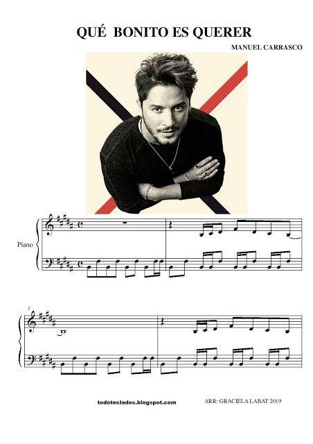 Qué Bonito Es Querer Manuel Carrasco Letras Y Acordes Musica Partituras Partituras
