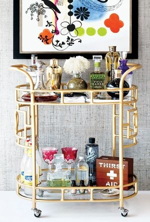 ARTICLE: 10 Must-Have Bar Cart Items for Your Holiday Party - These would make some great gift items too!