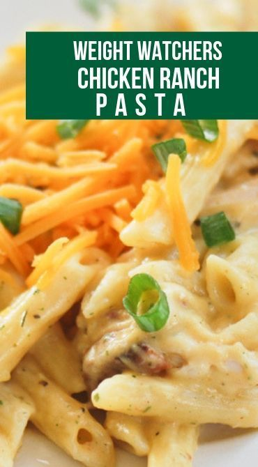 Weight Watchers Chicken Ranch Pasta is what you need for a great dinner! Just 1 … Weight Watchers Chicken Ranch Pasta is what you need for a great dinner! Just 1 point for 4 muffins! This protein filled breakfast will… Continue Reading → Weight Watchers Pasta, Weight Watchers Casserole, Weight Watcher Dinners, Poulet Weight Watchers, Plats Weight Watchers, Weight Watchers Meal Plans, Weight Watchers For Men, Weight Watcher Breakfast, Ww Recipes