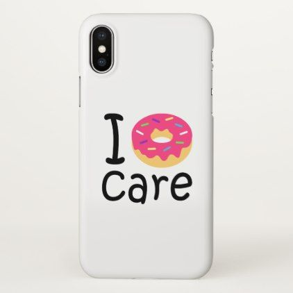 premium selection 10924 3cf39 Trendy I Donut Care funny phrase quote emoji iPhone Case | Zazzle ...
