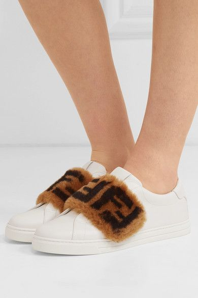 Leather sneakers, Fendi shoes