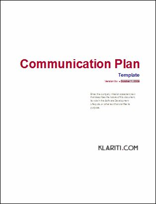 Download Your Communcations Plan And Strategy Template Pack