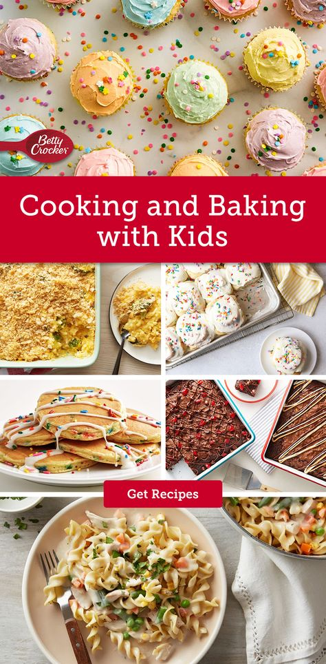 Get your little chefs started in the kitchen with Betty's best kids' cooking and baking ideas. Pin this now and gather the kids!