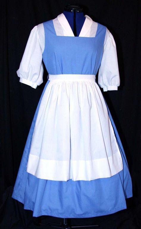 Disney belle blue dress by Misspoisonharley on Etsy,