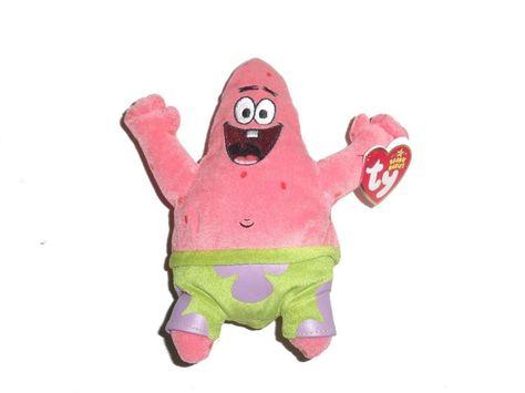 Ty Beanie Baby ~ PATRICK STAR 7 Inch Spongebob Squarepants MWMT