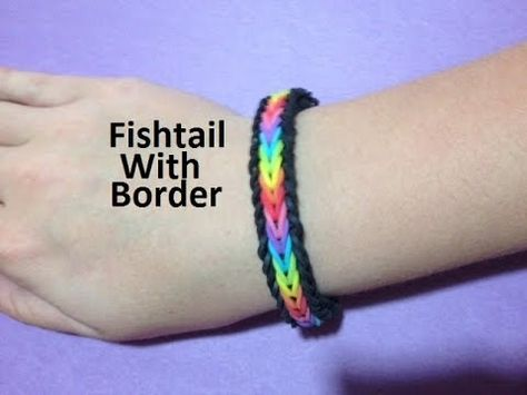 BEGINNER This video shows you how to make the original Monster Tail fishtail with border on the Monster Tail. This bracelet requires one monster tail, hook, rubber ba.