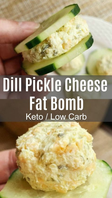 Savory fat bombs like these dill pickle fat bombs are a great alternative to the traditionally sweet versions. Pickle fans, this is for you! #keto #ketorecipes #lowcarb #lowcarbrecipes