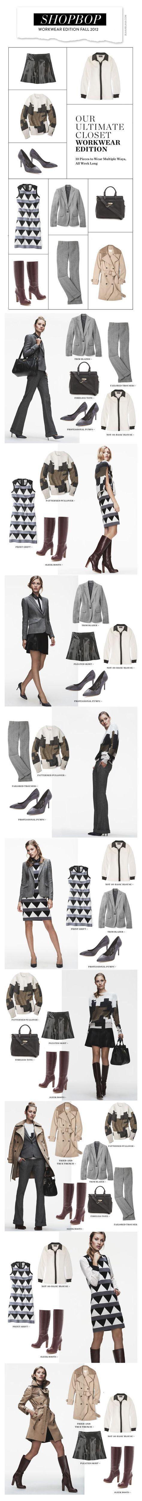 Shopbop Workwear Edition Fall 2012