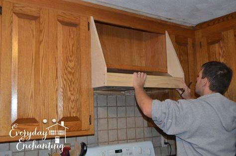 Diy Storage Range Hood Custom Vent Cover Tutorial Diy Hood Range