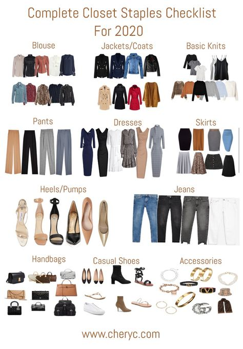 Complete Closet Staples Checklist You'll Need For 2020 - Source by myriamfronia. - Complete Closet Staples Checklist You'll Need For 2020 – Source by myriamfronia – - Spring Fashion Trends, Summer Fashion Trends, Fashion Tips, Fashion Beauty, Spring Summer Trends, Fall Trends, Fashion Hacks, Fashion Ideas, Capsule Outfits