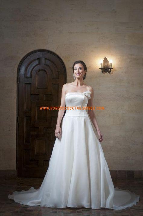 Belle robe de mariée bustier simple 2013 avec traîne mousseline