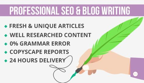will do SEO article writing in 24 hours English Internet & Technology Health & Medical