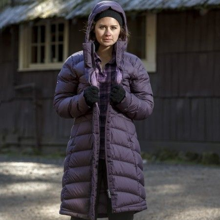 Buy Women's Duck Down Longline Jacket - Black Cherry online at ...