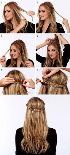 tutorial para peinado rapido y facil trenza y cabellos suelto