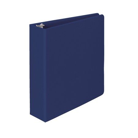 School Smart Polypropylene Round Ring Binder 2 Inch Blue Binder Binder Sizes School