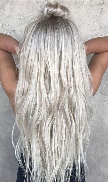 Ice Blonde Mane Interest Icy Blonde Hair Dark Roots Blonde