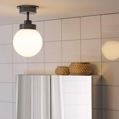 Bathroom Lighting Light Fixtures Ikea In 2020 Ceiling Lamp Black Ceiling Lamp Brass Ceiling Lamp