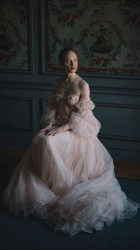 Blush Tulle Wedding Dress and Red Silk Alternative Bridal Gown - - blush tulle wedding dress with embroidered lace detail and a dramatic crimson silk ballgown for an alternative bridal look. Tulle Wedding, Wedding Dresses, Wedding Blush, Blush Bridal, Event Dresses, Boho Wedding, Dream Wedding, Pretty Dresses, Beautiful Dresses