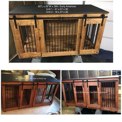 Barn Door Style Dog Kennel Dog Crate Dog Furniture Custom