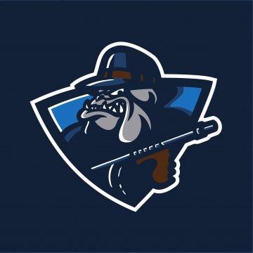 Mafia Bulldog Sport Gaming Mascot Logo Template