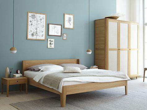 Elegant Die besten Bett eiche Ideen auf Pinterest Bett holz Eiche Schlafzimmerm bel und Bett Designs
