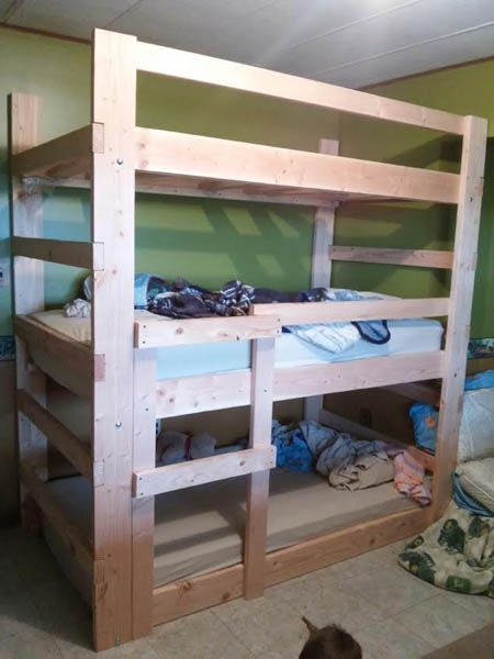 21 Top Wooden L Shaped Bunk Beds With Space Saving Features L Shaped Bunk Beds Queen Bunk Beds Bunk Bed Plans
