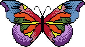 Large Rainbow Butterfly Pattern at Sova-Enterprises.com