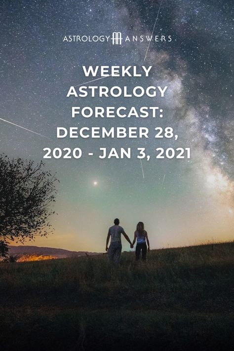 """Thursday night, we get to say """"Happy New Year"""" as we welcome January 2021 to our lives with the Sun in ambitious Capricorn and the amplified residual energy of Full Moon in Cancer from Tuesday. Get all the details in this week's astrological overview! #weeklyastrology #astrologyoverview #weeklyhoroscope #weeklyforecast"""