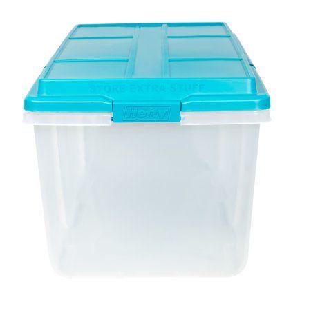 113 Qt Hefty Hi Rise Clear Storage Bin With Latches Walmart Com Clear Storage Bins Large Plastic Storage Bins Large Storage Bins