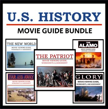 U S History Movie Guide Bundle Viewing Guides Worksheets And Quizzes Movie Guide Social Studies Resources Teaching Social Studies