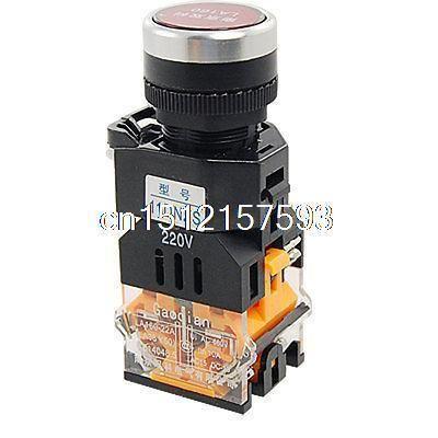 Дешевое Переменного тока 660 В 10A красный войти с фиксацией кнопочный переключатель ж 220 В лампы свет 1 нет 1 NC, Купить Качество Прочие переключатели непосредственно из китайских фирмах-поставщиках:         Описание         Название продукта  Кнопочный переключатель    Модель Нет.  LA160-22A3-11DNZS    Тип контакта  1