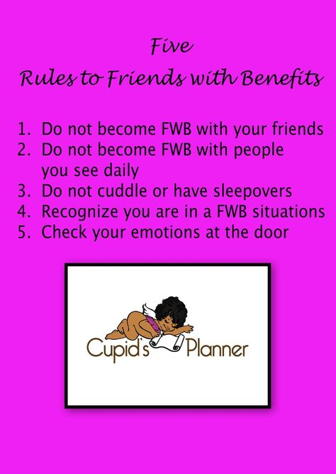 Friends with benefits rules | 3 Simple Ways to Start a