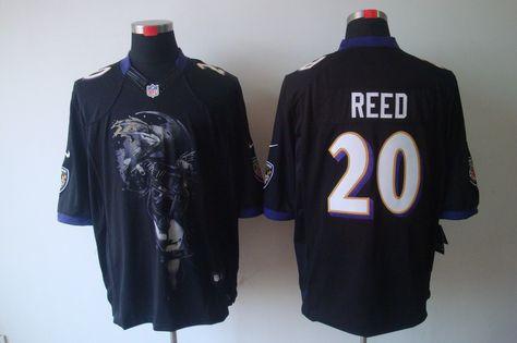63e5ee75e ... Purple Home Stitched NFL Jersey Nike Baltimore Ravens 20 Ed Reed Black  Mens Helmet Tri-Blend Limited NFL Jersey 23 White Lardarius Webb Game ...