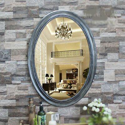 D6 Silver Ellipse Bathroom Toilet Vanity Wall Makeup Mirror Front Waterproof Y Toilet Vanity Mirror Bathroom Toilets